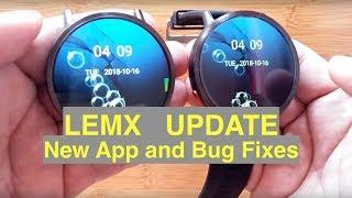 LEMFO LEMX Android 7.1.1  IP67 Waterproof Smartwatch Update: Bug Fixes & New Features
