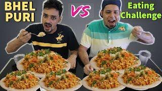 BHEL PURI EATING CHALLENGE    Bhel Puri Eating Competition    Bhel Puri Recipe    food challenge