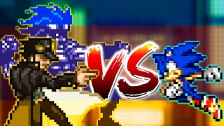 Sprite Fight Requiem #1 - Sonic e Jotaro