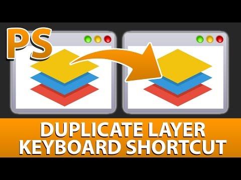 Photoshop duplicate layer shortcut