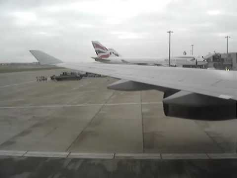 Landing in London, UK  (cloudy weather)