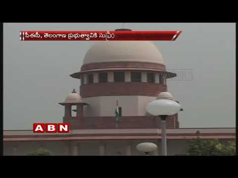 SC Issues Show Cause Notice To Telangana Government and  EC