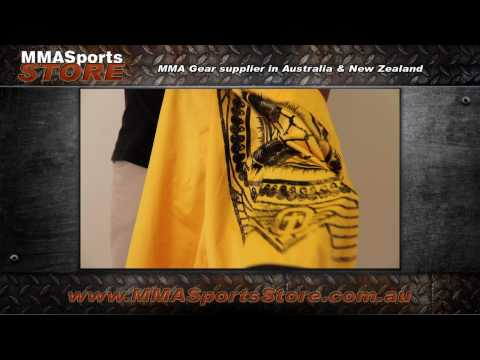 Tapout world order gold mma shorts Video