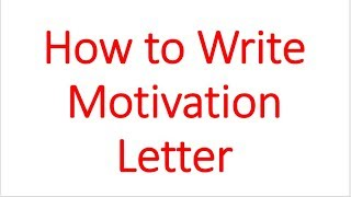 How to Write Motivation letter for MS/M.Phil/Ph.D admission in hindi/urdu/Asim Rana/Fai Academy