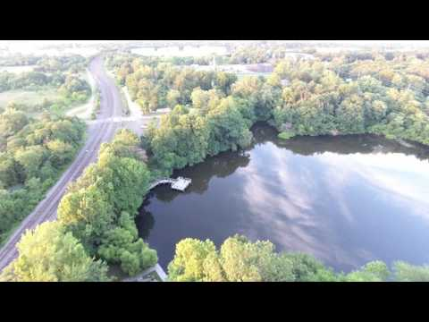 Drone View of the Delaware River (4K UHD)