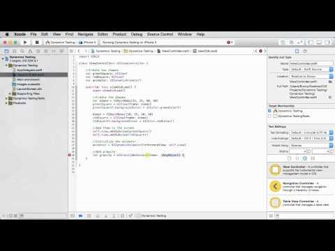 iOS Development with Swift Tutorial - 29 - Gravity
