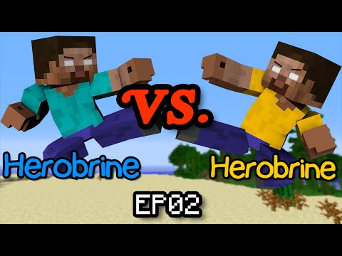 Herobrine vs Herobrine - Minecraft Part 2