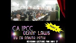 CA IPCC OTHER LAWS REVISION PART 4 FOR NOV 2017 BY CA ANKITA MEHTA PATNI