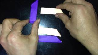 85.how To Fold Traditional Origami Cross Throwing Knives