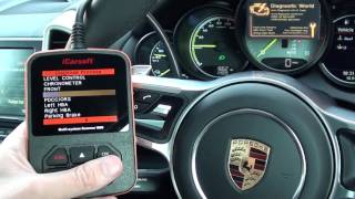 Porsche Cayenne Engine, ABS, Airbags Diagnostics iCarsoft i960