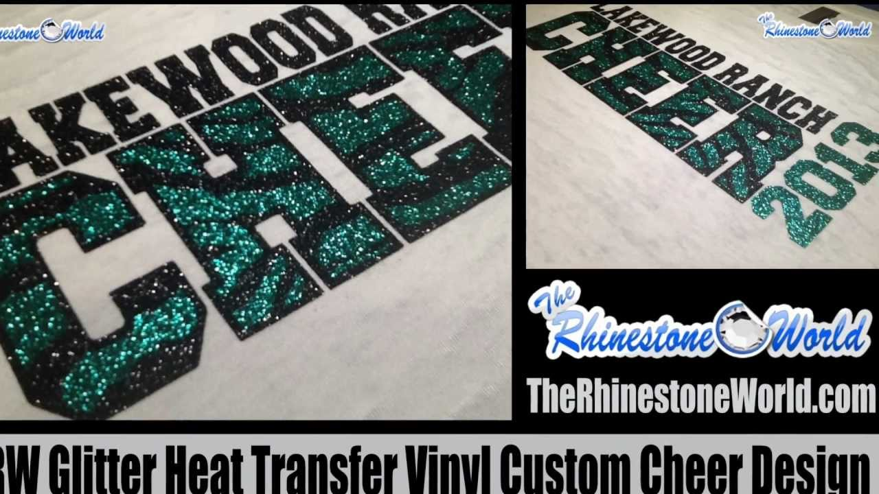 How To Layer Glitter Heat Transfer T Shirt Vinyl From The