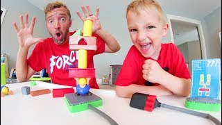 Father & Son PLAY BUILD OR BOOM! / Don't Get Exploded!