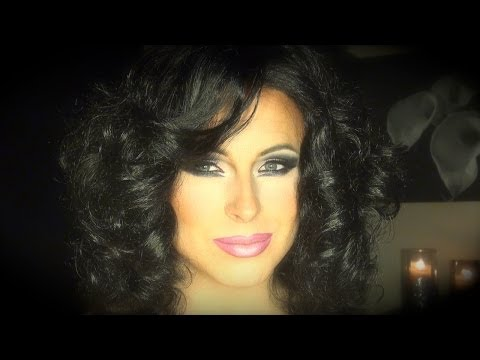 Hot Pink in Brunette Makeup for Drag Queens, Transgendered and Male to Female Transformations