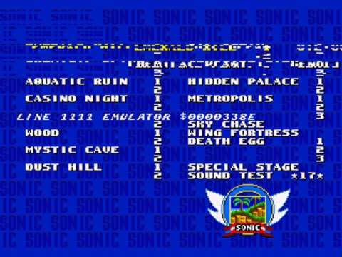 Sonic 2 Long Version:Level Select Error
