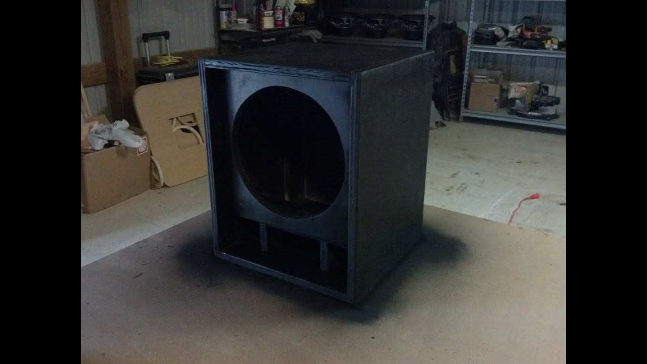 Guitar Speaker Cabinet Time Lapse Build Thiele Design