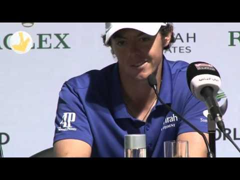 DP World Tour Championship 2012 Dubai - Caroline Wozniacki teasing Rory Mcilroy