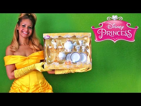 Disney Princess Belle Enchanting Be Our Guest Tea Set !    Disney Toy Reviews    Konas2002