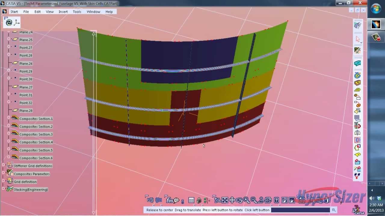 Fuselage Design in Catia to Catia Airframe Fuselage