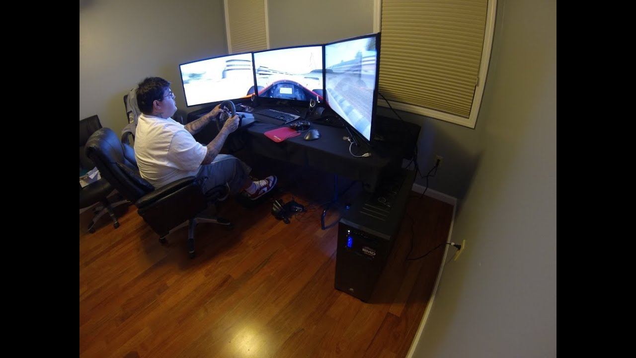 smd hardcore gaming pc quad sli triple 40 screens delivered live for speed youtube. Black Bedroom Furniture Sets. Home Design Ideas