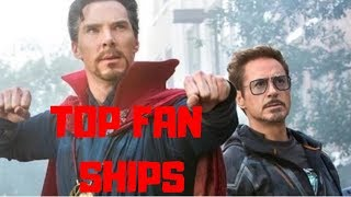 Top Ten Avengers Fan Ships!