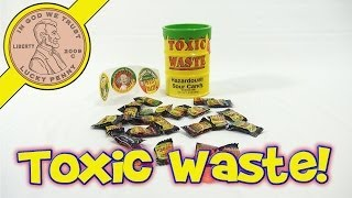 Toxic Waste Candy and Yellow Bank with Bonus Stickers!