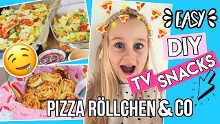 Diy TV SNACK IDEEN Pizza Röllchen & Nachos 🍕 Mavie Noelle