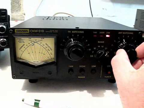 Part 2:   DAIWA CNW 518 Antenna Tuner Tuning Procedure