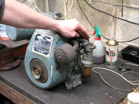 Villiers stationary engine start and tune australian 12 for Stationary motors for sale