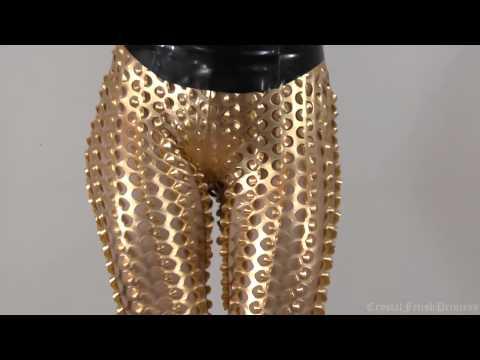 Sexy Liquid Gold Leggings Fetish