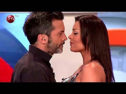 Pilar Ruíz y Cristián Sánchez se dieron un entretenido beso que se robó la pantalla - SQP