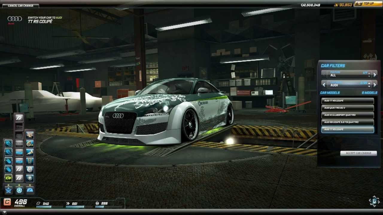 Need For Speed World Audi Tt Rs Coupe Vesna Edition Spring Car Pack 5 May 2013 Youtube