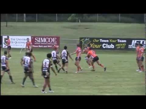 Match highlights from round two of the 2012 Intrust Super Cup clash between Ipswich Jets and Easts Tigers courtesy of Red Corner Promotions (http://www.redco...