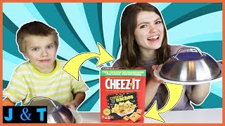 Cheez-It vs Real Food Switch Up Challenge / Jake and Ty