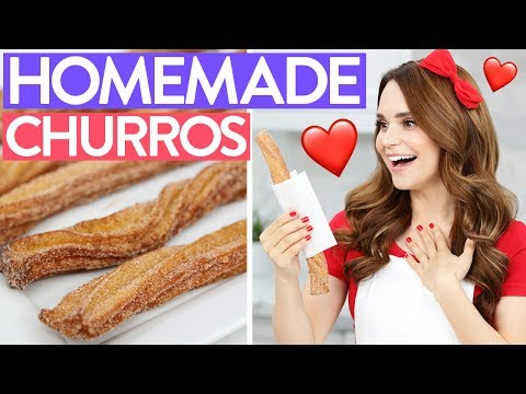 HOW TO MAKE HOMEMADE CHURROS!