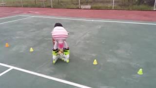 Cara main sepatu roda Qarin umur 10 thn bjbaru