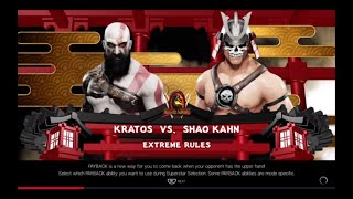 WWE 2K19 Kratos VS Shao Kahn 1 VS 1 Extreme Rules