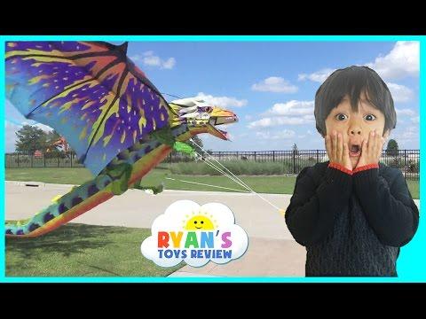 Flying Huge Dragon Kite and Superman Glider Toys For Kids