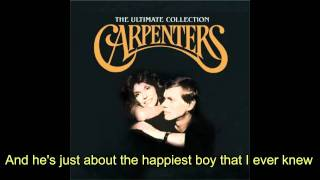 Watch Carpenters And When He Smiles video