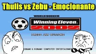 Gameplay Winning Eleven 2002 PS1 - Nigéria vs Brasil - (Thulis vs Zebu)