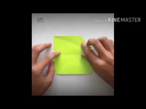 Cara membuat payung dari kertas origami
