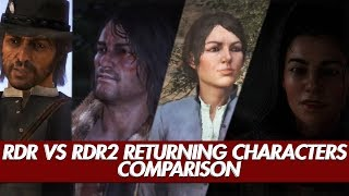 Red Dead Redemption 2 vs Red Dead Redemption | Returning Characters Comparison