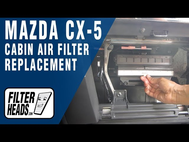 Cabin air filter replacement - Mazda CX-5 - YouTube