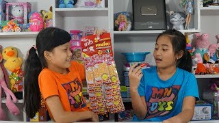 Hồng Anh Thách Ăn 3 Gói Mực Bento Thái Lan Siêu Cay Hình Phạt Vẽ Son Lên Mặt