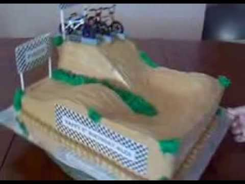 Bmx Race Track Cake Youtube