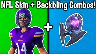 5 BEST 'FOOTBALL' SKIN + BACKBLING COMBOS in Fortnite! (NFL Skin Combinations)