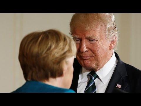 СМИ: неслучившееся рукопожатие Меркель и Трампа - символ новых отношений