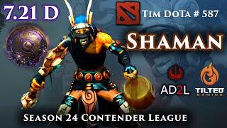 Dota 2 Shadow Shaman   7.21D   AD2L   S24  Contender League   TG vs MC   1 of 2    Tim Dota 587