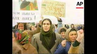 Chechnya - Demonstrations In Shali And Grozny