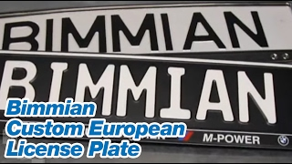 Bimmian Custom European License Plate MADE IN GERMANY