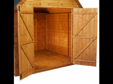 how to build shed double doors video
